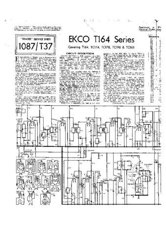 EKCO TC174 Equipment Service Information by download #90335