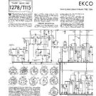 EKCO TC267 Equipment Service Information by download #90346