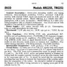EKCO TRG252 Equipment Service Information by download #90368