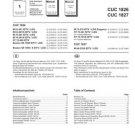 GRUNDIG CUC1806 Service Info by download #90430