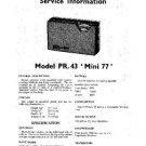 PERDIO MINI 77 Equipment Service Information by download #90621