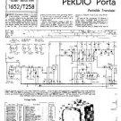 PERDIO PORTARAMA Mark 2 Equipment Service Information by download #90634