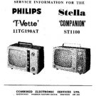 PHILIPS 11TG190A Vintage TV Service Info  by download #90672