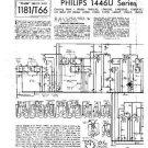 PHILIPS 1446UF-45 Vintage TV Service Info  by download #90681