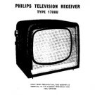 PHILIPS 1708U Vintage TV Service Info  by download #90684