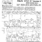 PHILIPS 23TG170A Vintage TV Service Info  by download #90730