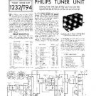 PHILIPS AT7521-01 Vintage TV Service Info  by download #90740