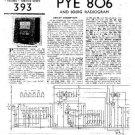 PYE 806 Vintage Service Information  by download #90837
