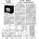 PYE 825 Vintage Service Information  by download #90843