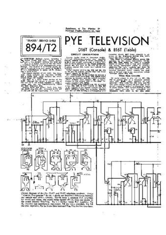 PYE B16T Equipment Service Information by download #90852