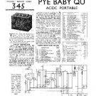 PYE BABY QU Vintage Service Information  by download #90858