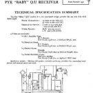 PYE BABY Vintage Service Information  by download #90859