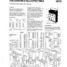 PYE CP937 MK II Vintage Service Information  by download #90869