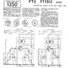 PYE P115U Vintage Service Information  by download #90958