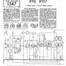 PYE P116U Vintage Service Information  by download #90959