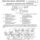 PYE QPAC Vintage Service Information  by download #90977