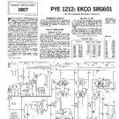 PYE SRG601 Vintage Service Information  by download #90994