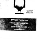 AMSTRAD CTV250 Service Manual by download #91268