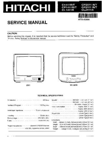HITACHI CP2011R Service Information  by download #91679