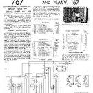 HMV 167 Vintage Service Information  by download #91732