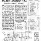 MARCONI 234 Vintage Service Information  by download #91780