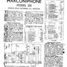 MARCONI 235 Vintage Service Information  by download #91781