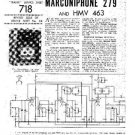 MARCONI 279 Vintage Service Information  by download #91800
