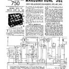 MARCONI 382 Vintage Service Information  by download #91819