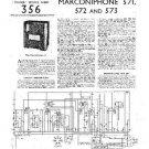 MARCONI 572 Vintage Service Information  by download #91837