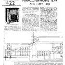 MARCONI 879 Vintage Service Information by download #91855