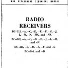 MILITARY BC312 SERIES RECEIVER SERVICE by download #91892