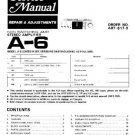 PIONEER A6 Service Manual by download #91970