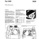 PYE 1400 Vintage Service Information  by download #92002