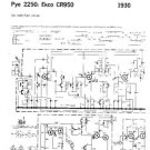 PYE 2250 Vintage Service Information  by download #92021