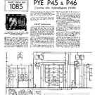 PYE P45 Vintage Service Information  by download #92060