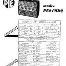 PYE PE94MBG Vintage Service Information  by download #92088