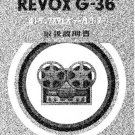 Revox G36 Tape Recorder Operating Guide in Japanese  by download #92121