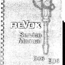 REVOX D36 Tape Recorder Service Manual by download #92127