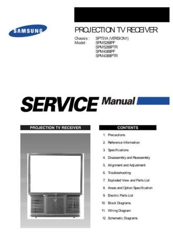 SAMSUNG SPM5288PTR Service Manual by download #92152