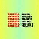 TOSHIBA 1450XSH Service Information by download #92256