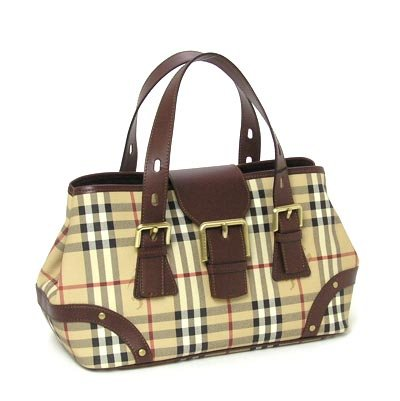 BURBERRY 11590975 CLASSIC CHECK BUCKLE TOTE BAG