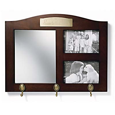 Peace - Mirror With Frames - Cherry