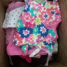 35 Pcs Girls Clothes assorted Shades and sizes (newborn - 18 months)