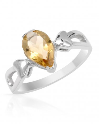 Brand New Pear shaped Genuine Citrine 1.04ctw set in Sterling silver