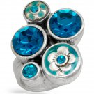 Pilgrim Skanderborg Ring With Turquoise Crystals
