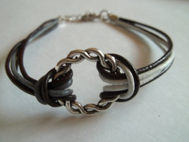 Bracelet with Decorative Metal Ring
