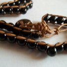 Black Agate Friendship Bead Bracelet