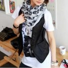 Trendy  White Scarf/Shawl