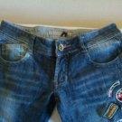M&M Designer Patched Distressed Skinny Jeans Sz 26