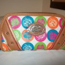 """""""Rainbow Apple Cores Wallet Brown"""" by Apple Bottoms"""